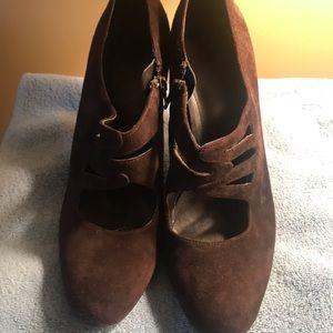 Calvin Klein suede shoe bootie
